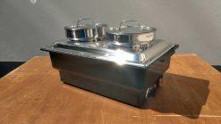 7ce200 Chafing Dish mit Elektrowanne für Suppe oder Sauce 2x4,5 Liter